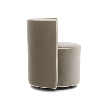 POPPY WITH WELT FULL SWIVEL CHAIR, BOULEVARD - TAUPE GRAY, hi-res