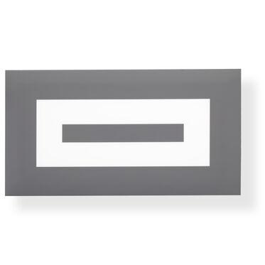 BLACK AND GRAY CONCENTRIC WALL ART, , hi-res