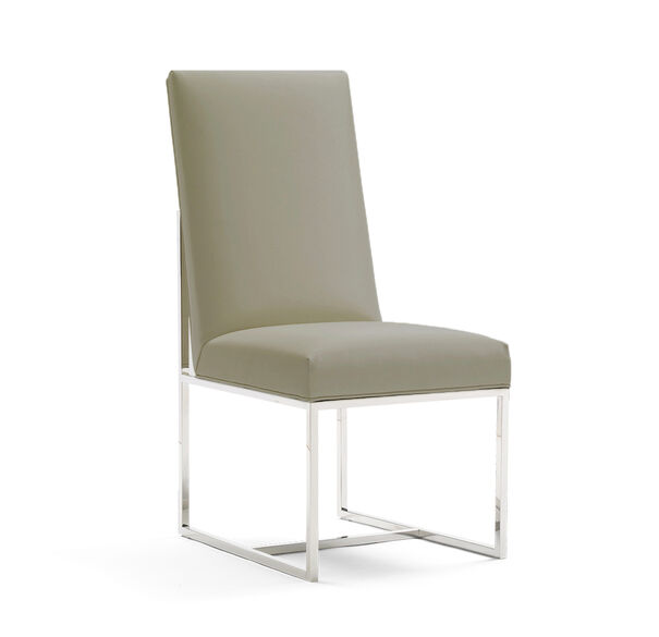 GAGE TALL SIDE  DINING CHAIR, ALLOY - PEWTER, hi-res