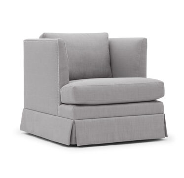 MARIELLA SKIRTED CHAIR, WORTH - PEWTER, hi-res