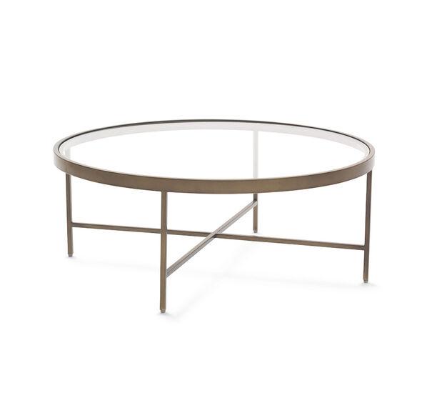 VIENNA ANTIQUE BRASS ROUND COCKTAIL TABLE, , hi-res