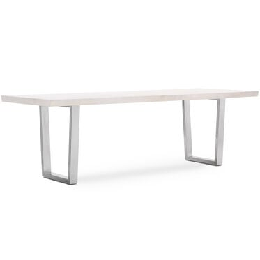 KIMORA DINING TABLE - WHITE, , hi-res
