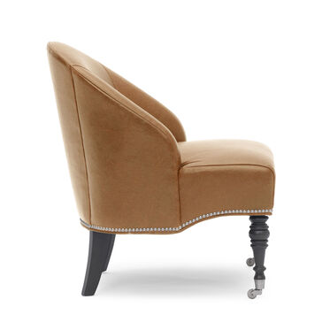 MAE LEATHER CHAIR, MONT BLANC - FAWN, hi-res