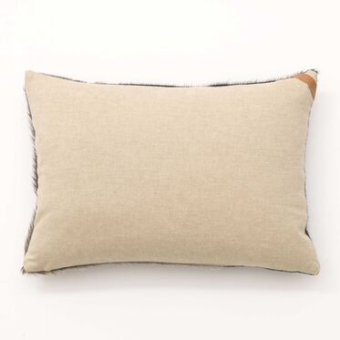 TWO-TONE HAIR ON HIDE PILLOW - EMERALD - 20 in. X 14 in., , hi-res