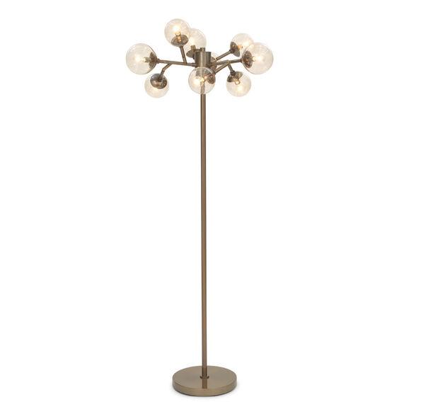 SAVOY FLOOR LAMP - VINTAGE BRASS, , hi-res