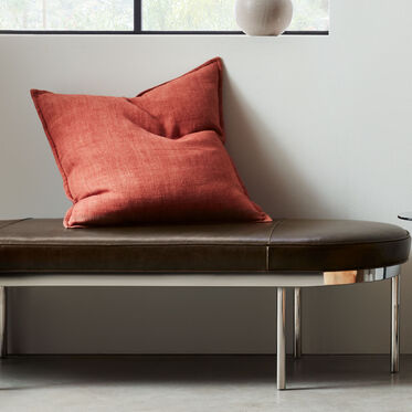 COLBURN LEATHER COCKTAIL OTTOMAN, MONT BLANC - SPANISH MOSS, hi-res