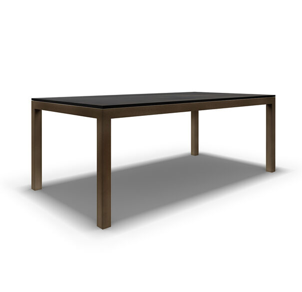 CLASSIC PARSONS DINING TABLE - VINTAGE BRASS, , hi-res