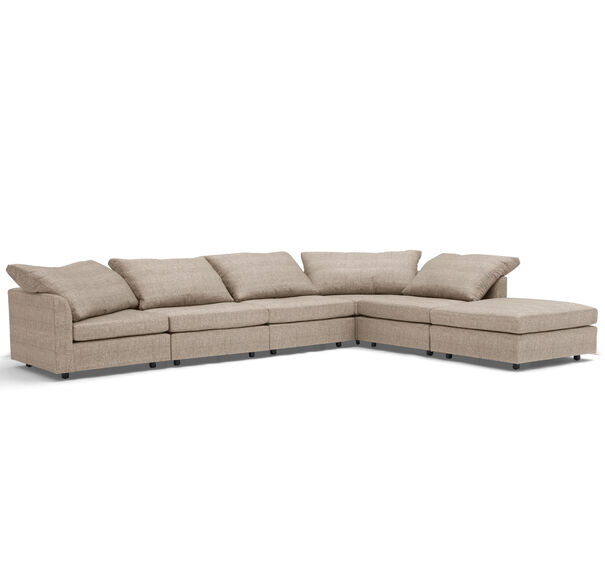 BIG EASY 6-PC SECTIONAL, COSTA - TAUPE, hi-res