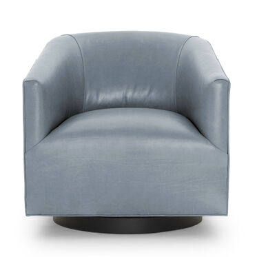 COOPER LEATHER SWIVEL CHAIR, MONT BLANC - IRON, hi-res