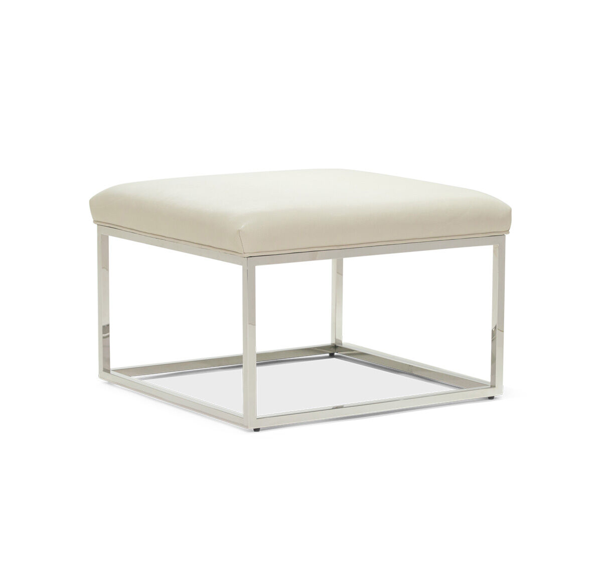 carmen leather cube ottoman hires