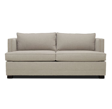 KEATON SUPER LUXE QUEEN NAILHEAD TRIM SLEEPER SOFA, FULMER - TAUPE, hi-res