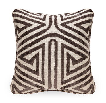 21 IN. SQUARE THROW PILLOW, CULLEN - CHOCOLATE, hi-res