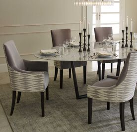 ADA SIDE DINING CHAIR, Performance Micro Velvet - Silver, hi-res