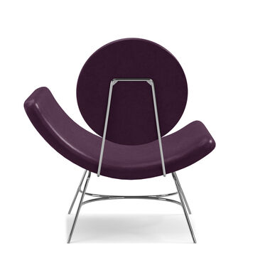 ELROY LEATHER RIGHT ARM CHAIR, MONT BLANC - AUBERGINE, hi-res