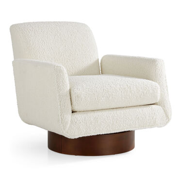 SUPERNOVA SWIVEL CHAIR, SHERPA - NATURAL, hi-res