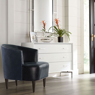 COSTELLO LEATHER CHAIR, MONT BLANC - BLUE SMOKE, hi-res
