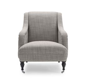 ODETTE CHAIR, Two Tone Heavy Weight Basket Weave - GRAPHITE                             , hi-res