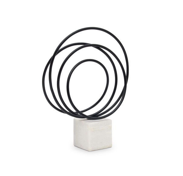 BLACK IRON CIRCULAR SCULPTURE, , hi-res