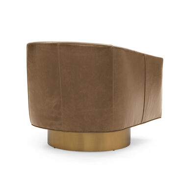BIANCA FULL SWIVEL LEATHER CHAIR, MONT BLANC - CHIANTI, hi-res