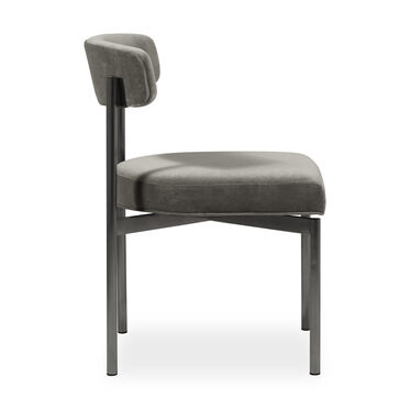 REMY DINING CHAIR - PEWTER, BOULEVARD - GRAPHITE, hi-res