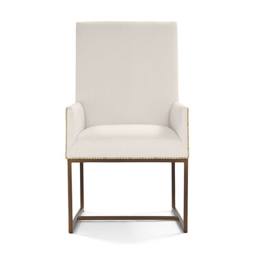 GAGE TALL ARM DINING CHAIR, TERRACE - ALMOND, hi-res
