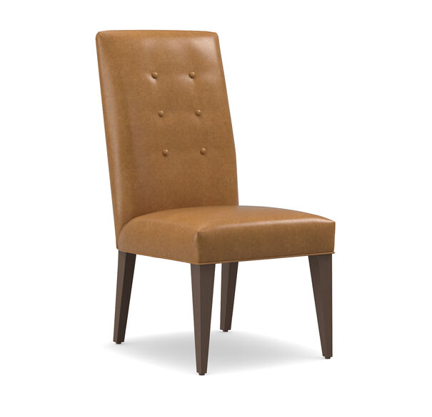 OLIVER LEATHER TALL SIDE DINING CHAIR, MUSKOGEE - OAK, hi-res