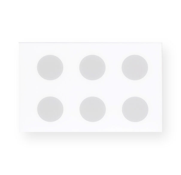 GRAY AND WHITE DOTS WALL ART, , hi-res