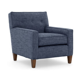 DEXTER CHAIR, Textured Weave - INDIGO, hi-res