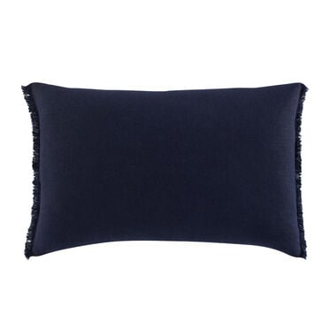 FRINGE LINEN LUMBAR PILLOW, , hi-res