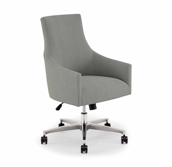 ADA DESK CHAIR, Tone on Tone Chenille - PEWTER, hi-res