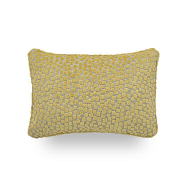 "VELVET 18"" X 12"" WELT ACCENT PILLOW, ALIA - LEMON, hi-res"
