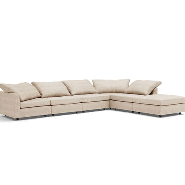 BIG EASY 6-PC SECTIONAL, COSTA - CREAM, hi-res