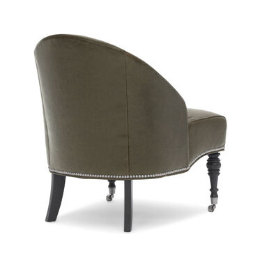 MAE LEATHER CHAIR, MONT BLANC - SPANISH MOSS, hi-res