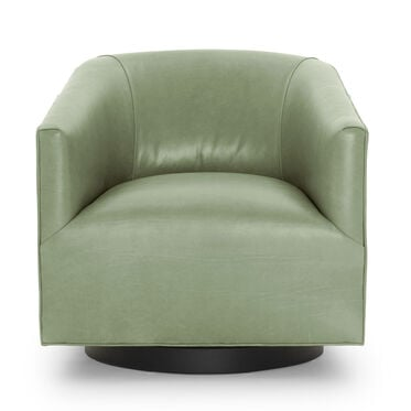 COOPER LEATHER SWIVEL CHAIR, MONT BLANC - FERN, hi-res