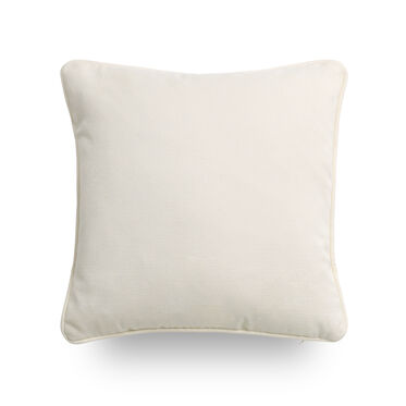 "SUNBRELLA 17"" X 17"" WELT ACCENT PILLOW, TERRACE - ECRU, hi-res"