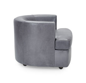 RYDER LEATHER CHAIR, MONT BLANC - IRON, hi-res