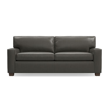 ALEX LEATHER LUXE QUEEN SLEEPER SOFA, MANCHESTER - GRAPHIT, hi-res