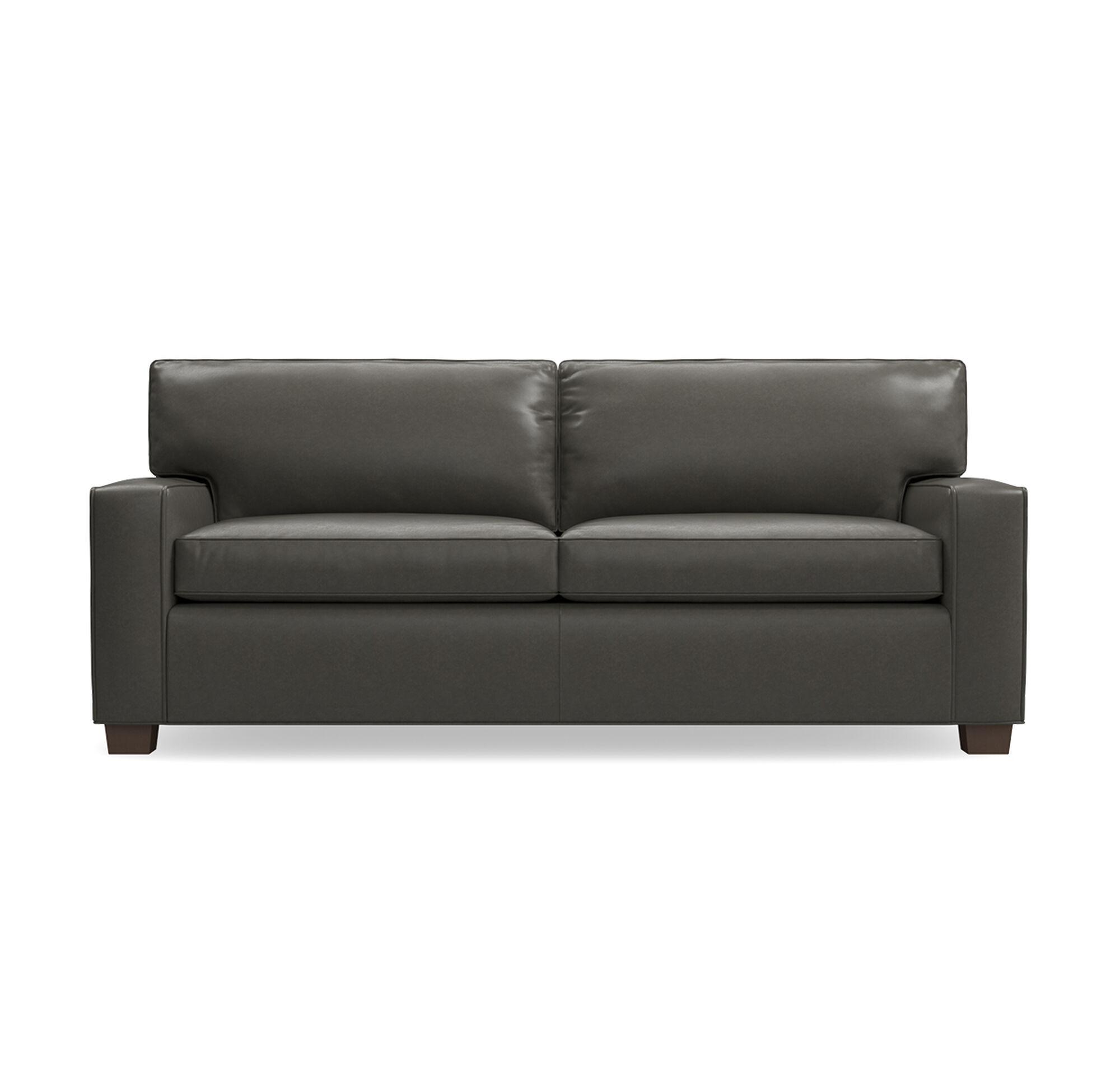 alex leather luxe queen sleeper sofa