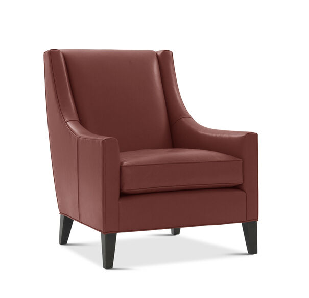CARA LEATHER TALL CHAIR, ROJO - ROUGE, hi-res
