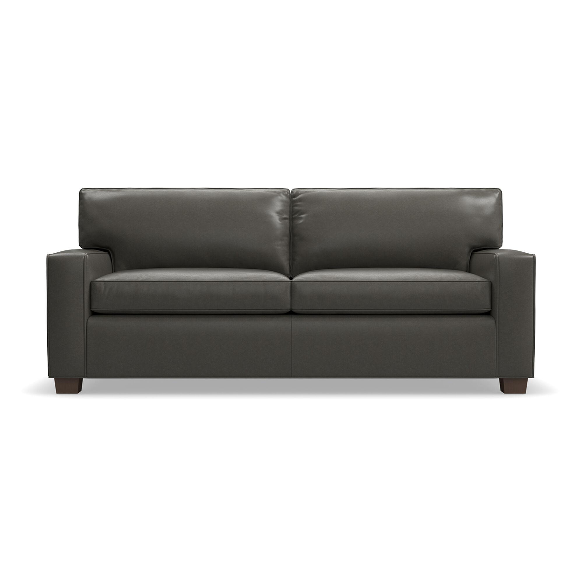 Alex Leather Super Luxe Queen Sleeper Sofa