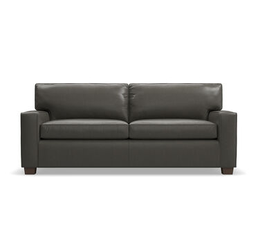 ALEX LEATHER SUPER LUXE QUEEN SLEEPER SOFA, MANCHESTER - GRAPHIT, hi-res