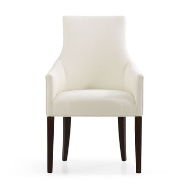 ADA ARM DINING CHAIR, Performance Textured pebble Weave - CREAM                             , hi-res