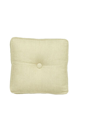 16 IN. SQUARE BUTTON THROW PILLOW, , hi-res