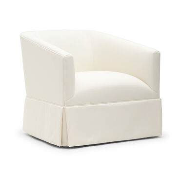 COOPER WITH SKIRT RETURN SWIVEL CHAIR, TERRACE - ECRU, hi-res