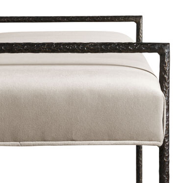 YVES BENCH OTTOMAN, BOULEVARD - TAUPE GRAY, hi-res