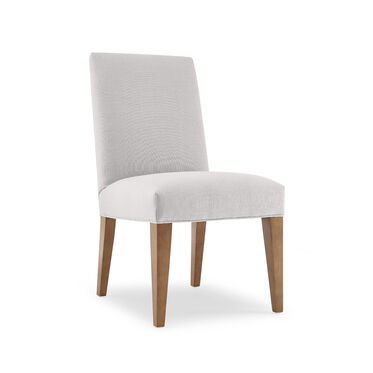 ANTHONY SIDE DINING CHAIR, Performance Textured Linen - SILVER, hi-res