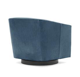 COOPER STUDIO LEATHER SWIVEL CHAIR, MONT BLANC - BLUE SMOKE, hi-res