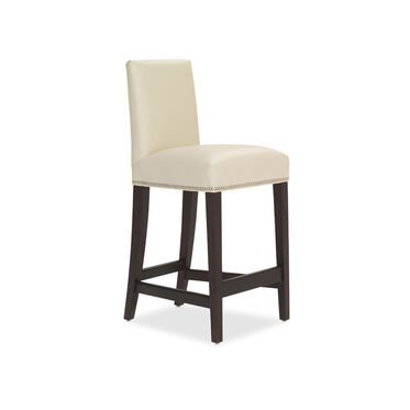 ANTHONY LEATHER BAR STOOL, TRIBECA - CREAM, hi-res