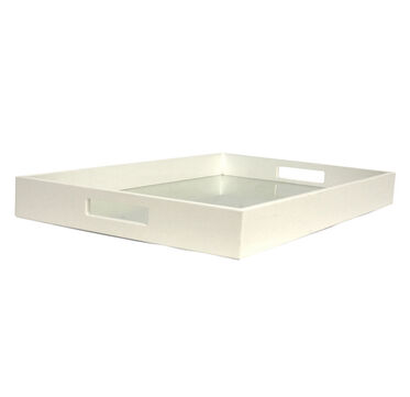 WHITE SQUARE TRAY - LARGE, , hi-res