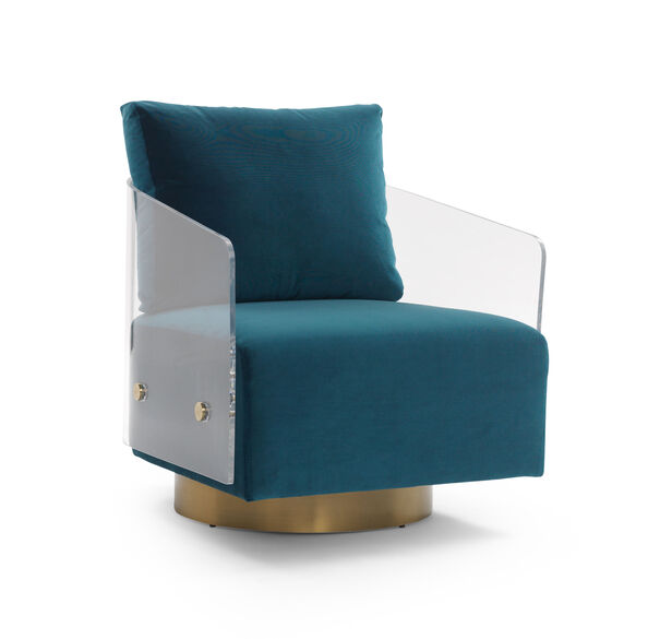 LUCY FULL SWIVEL CHAIR, VIVID - PEACOCK, hi-res